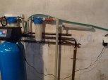 Změkčení vody, odstranění manganu filtrem A60K+odstranění bakterií ET 0206+RO do linky-Bláto