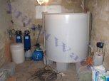 Změkčení a odželeznění filtry A 25 K a A 30 MTM + dezinfekce vody + dvoukomorová nádrž - Sezemice