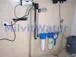 Odstranění bakterií UV lampou a dusičnanů reverzní osmózou do kuchyňské linky - Slavětín