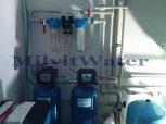 """Odstranění železa filtrem A 35 D G1"""" s dávkovacím čerpadlem a změkčení vody filtrem A 35 K G1"""" - B"""